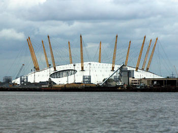 The Millennium Dome now renamed 'The O2""